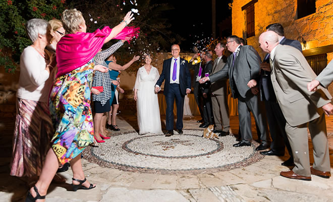 Knights Courtyard Night Wedding